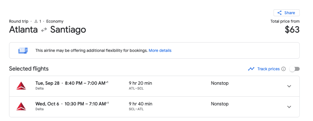 atl-scl black Friday flight deals