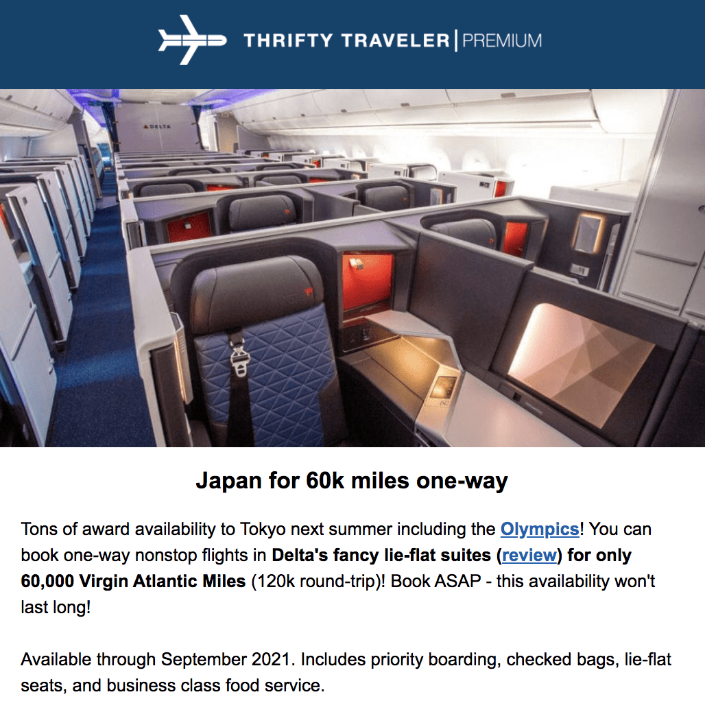 thrifty traveler premium deal