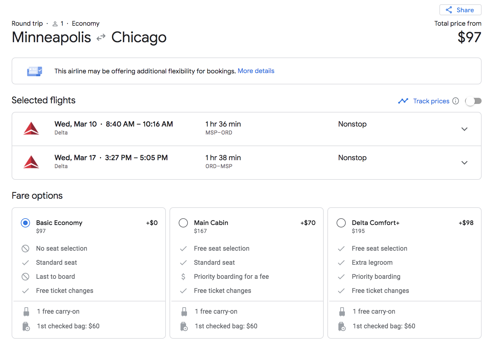 minneapolis to chicago google flights