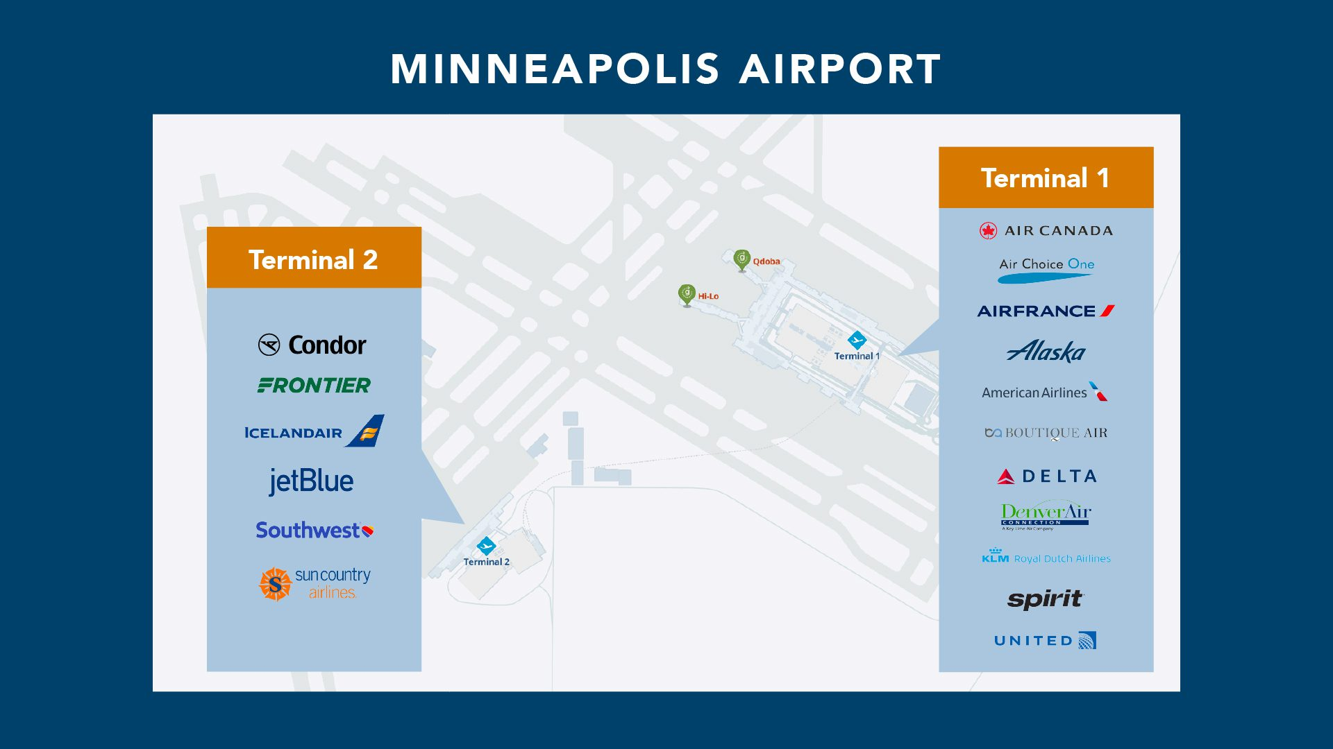Minneapolis airport terminal map