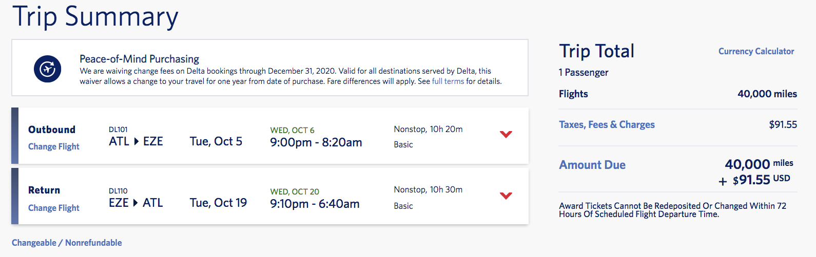 delta skymiles flash sale atlanta argentina