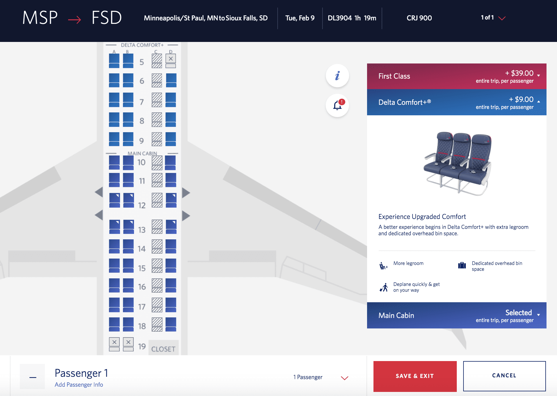 delta middle seat policy