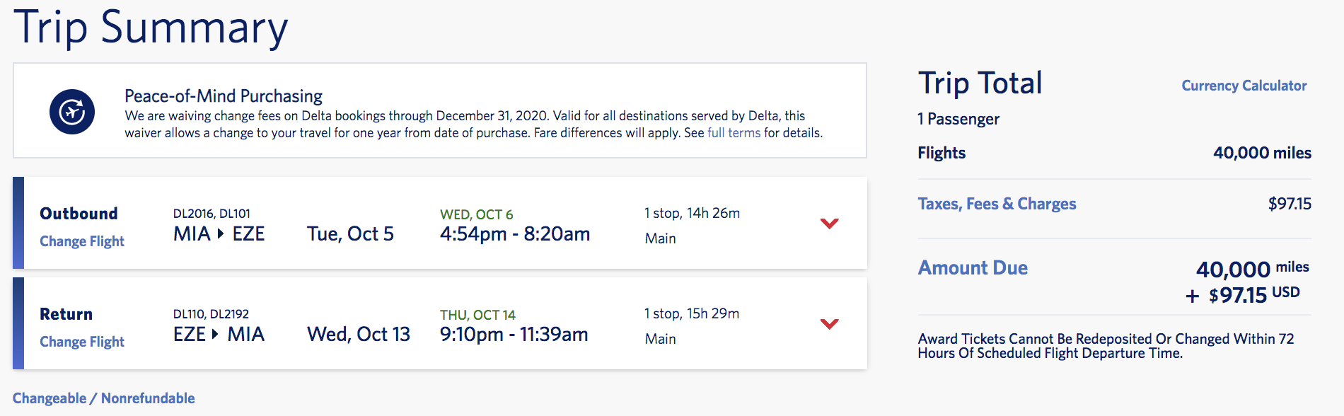 delta skymiles flash sale Argentina miami