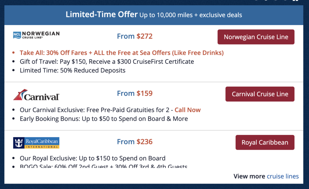 earn delta skymiles with Delta cruises