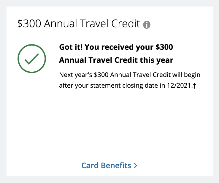 Chase Sapphire Reserve travel credit