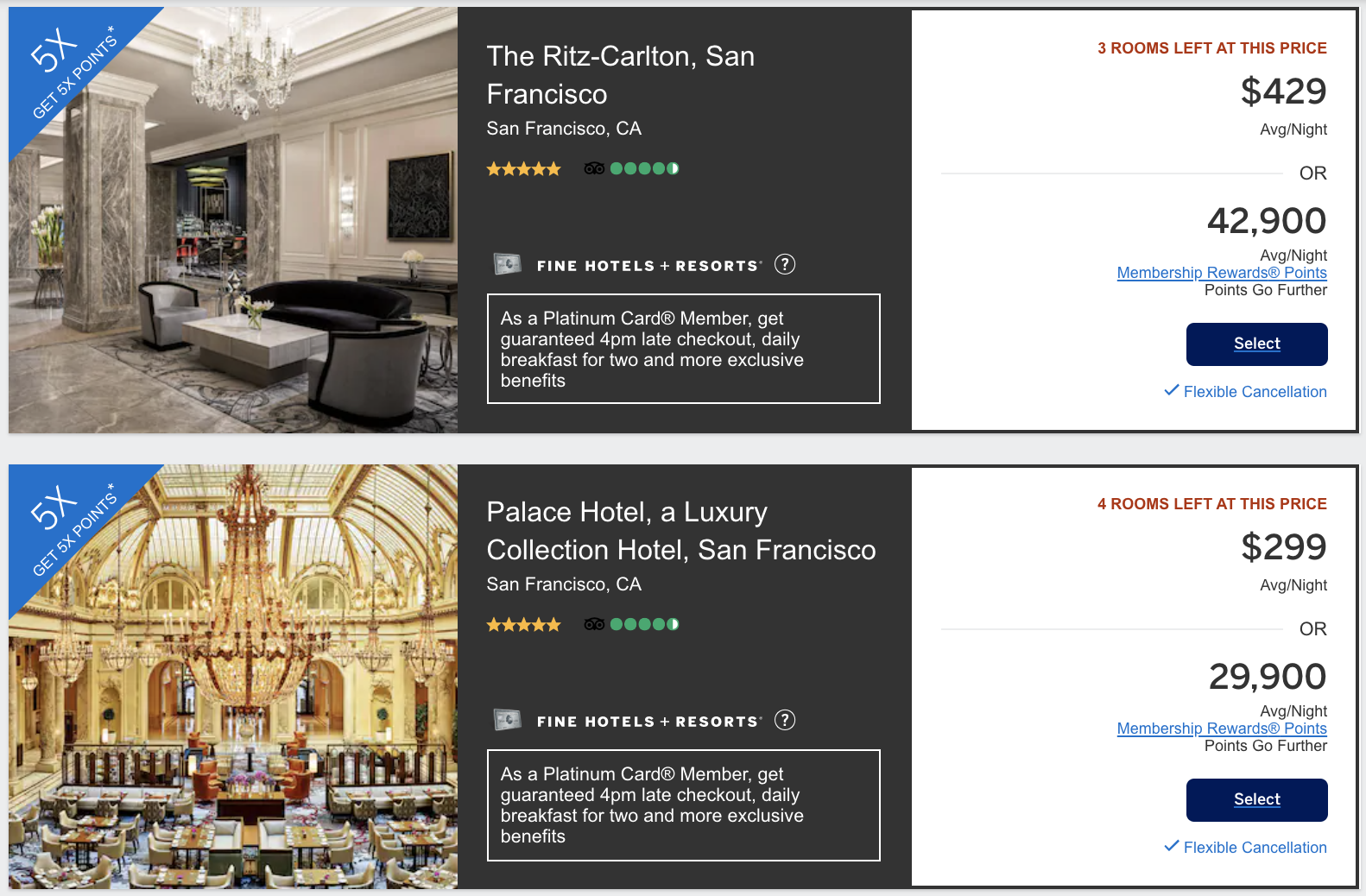 amex hotel offers FHR
