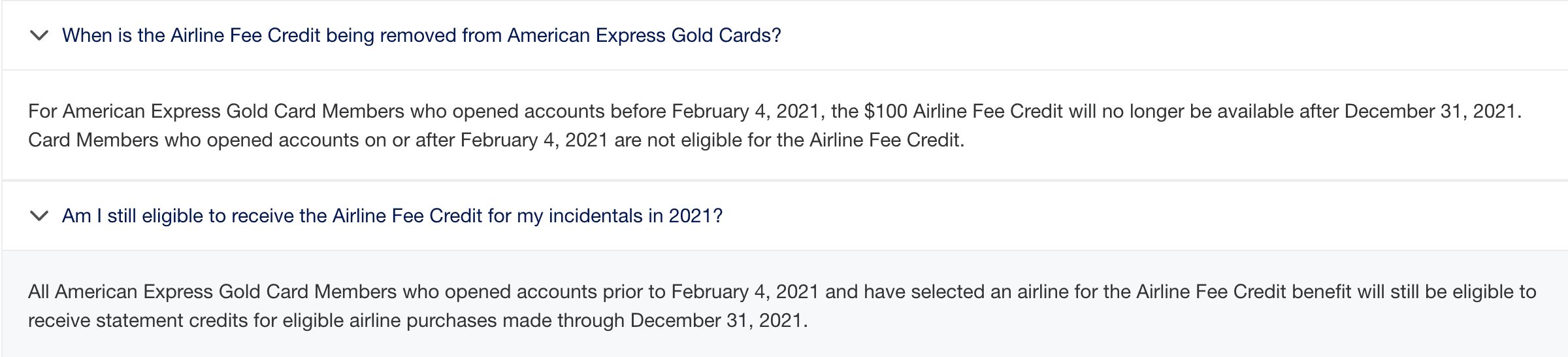 amex gold card today airline fees
