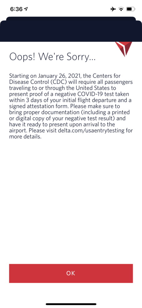 delta mobile check in notification