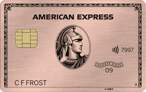 amex rose gold coin