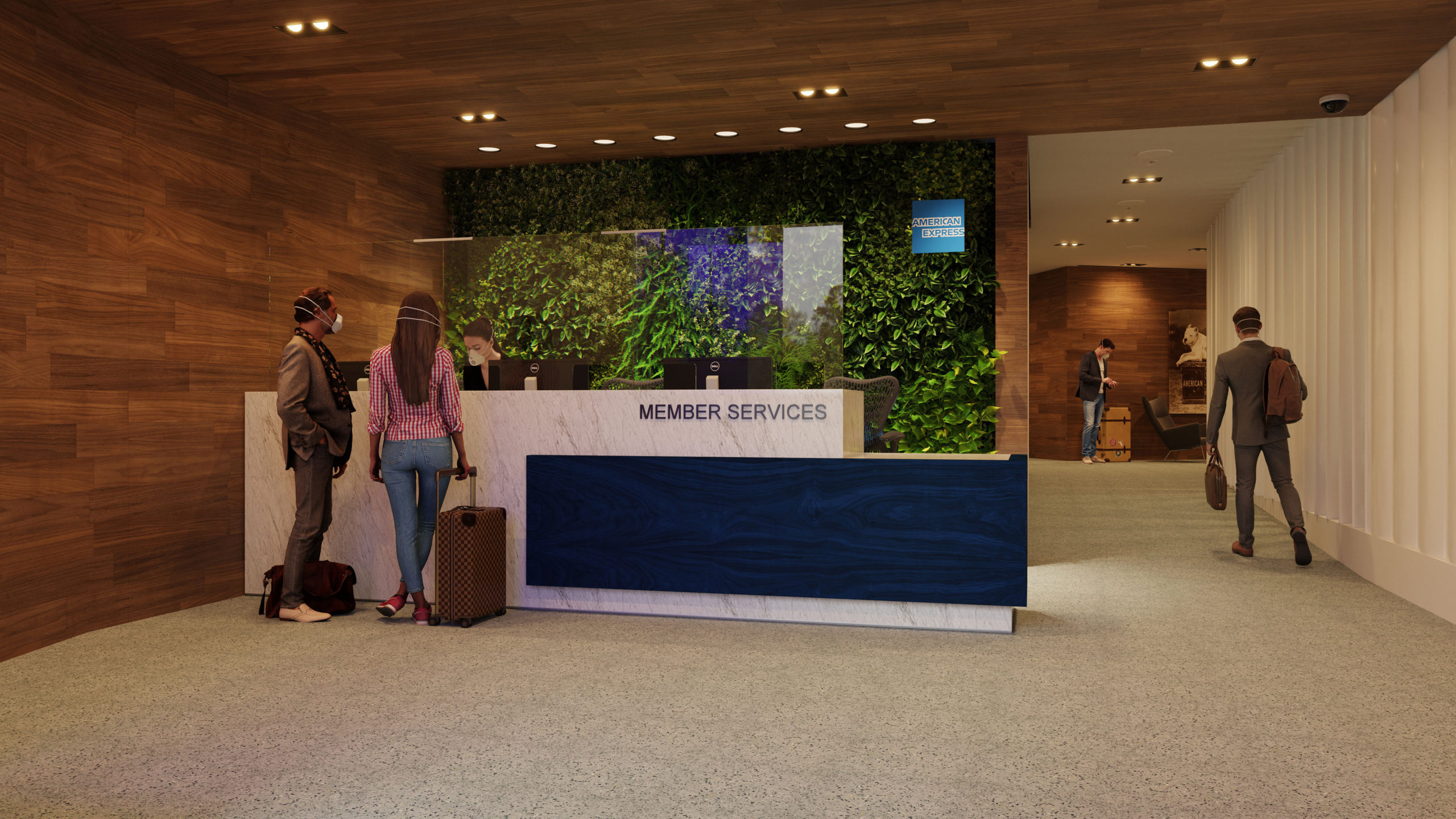 amex centurion lounges covid