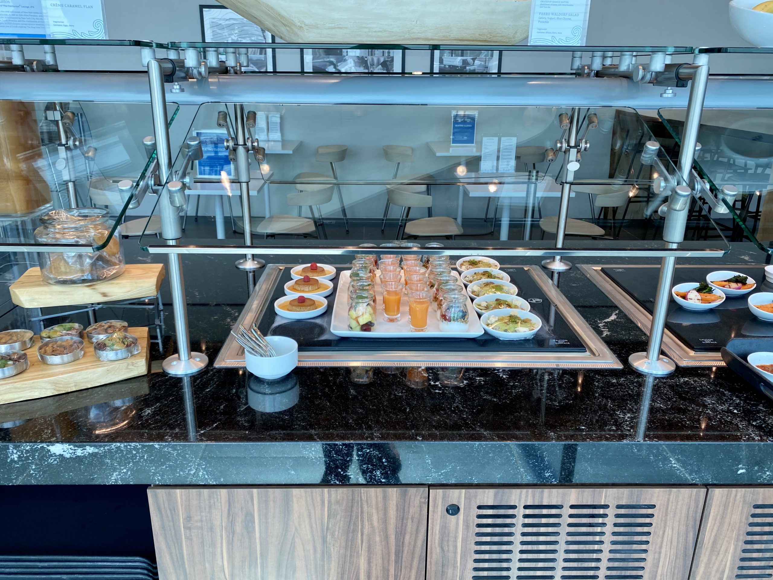 jfk centurion lounge buffet