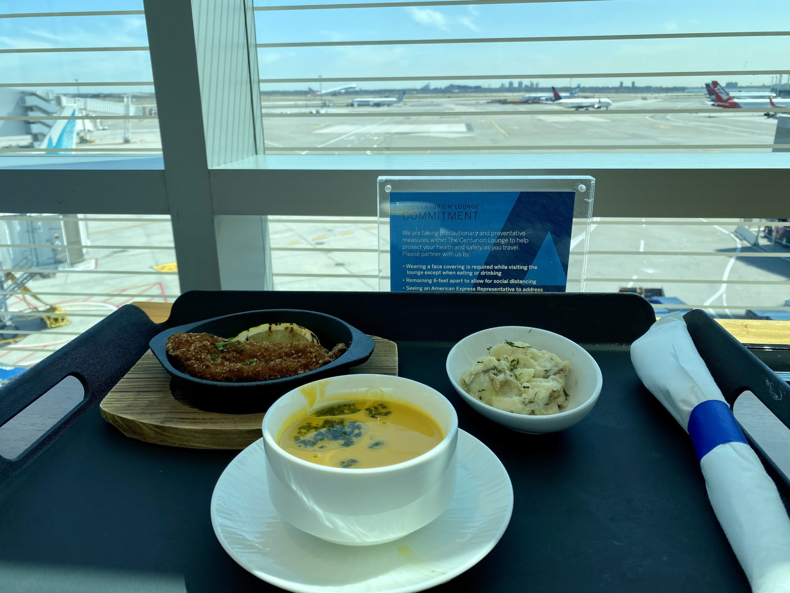 JFK Centurion Lounge food