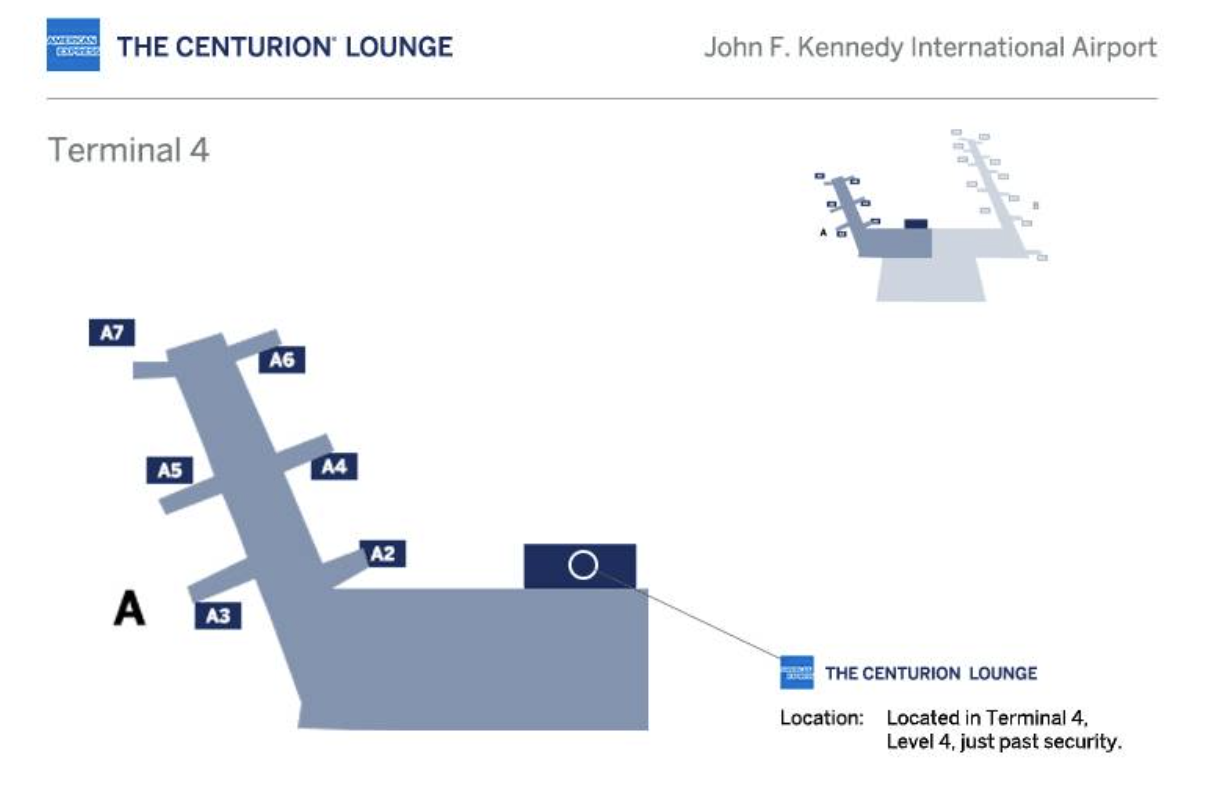 jfk centurion lounge location