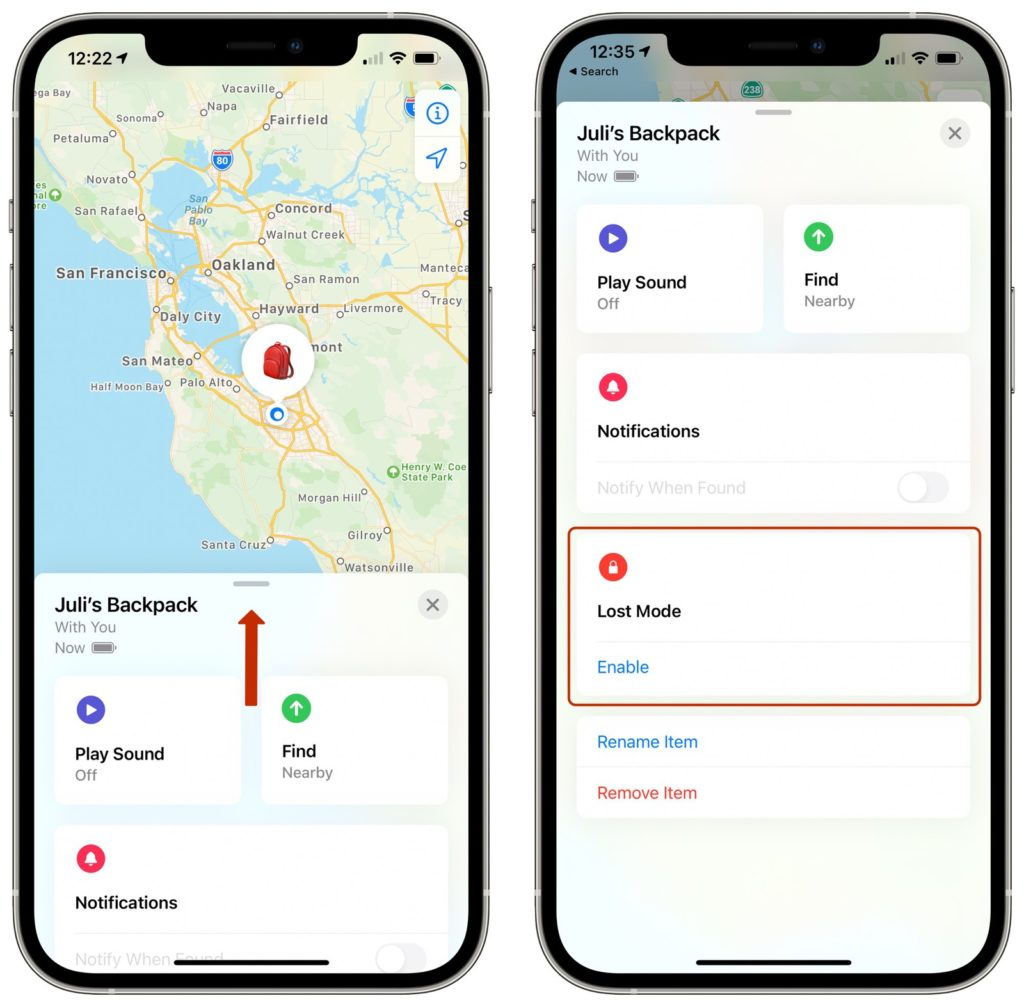 Apple AirTags lost mode