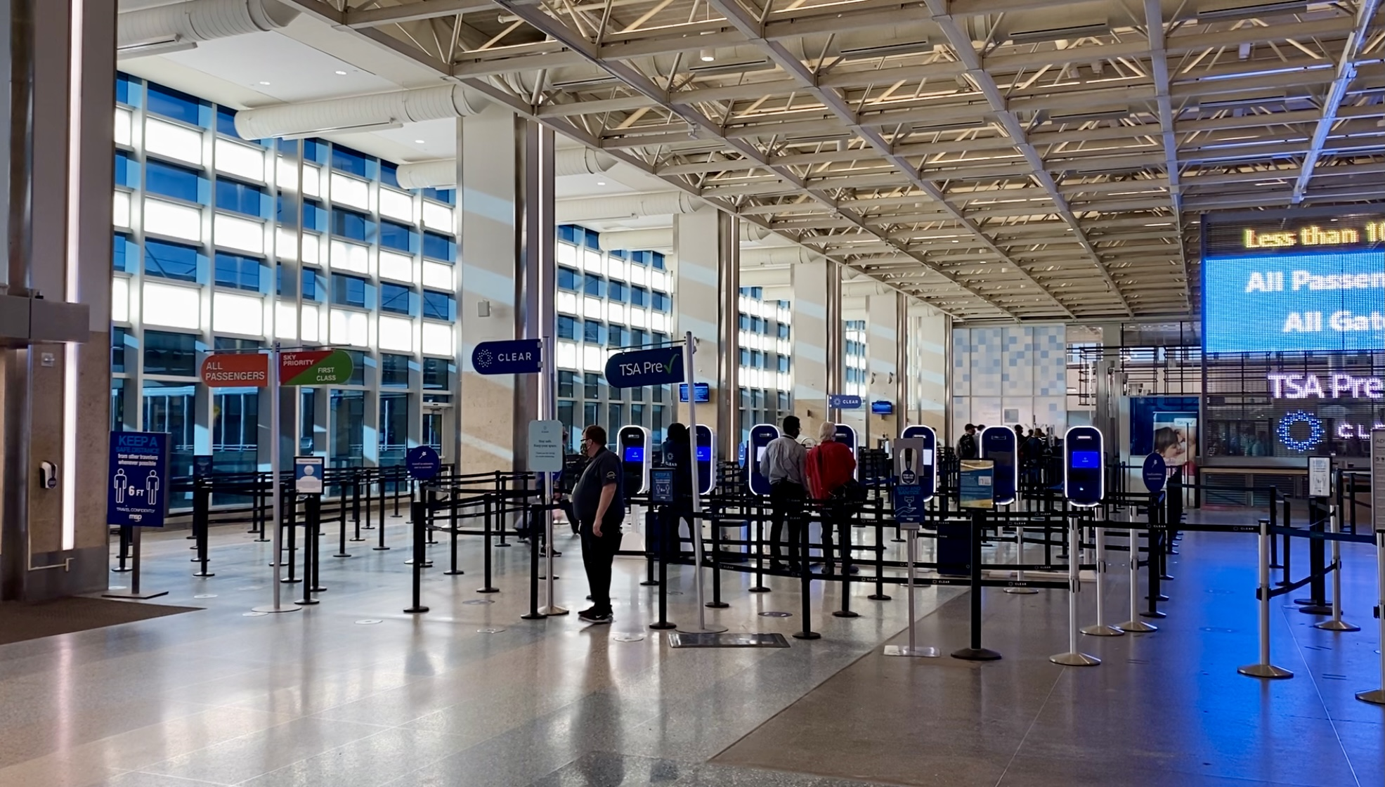 msp airport security checkpoint