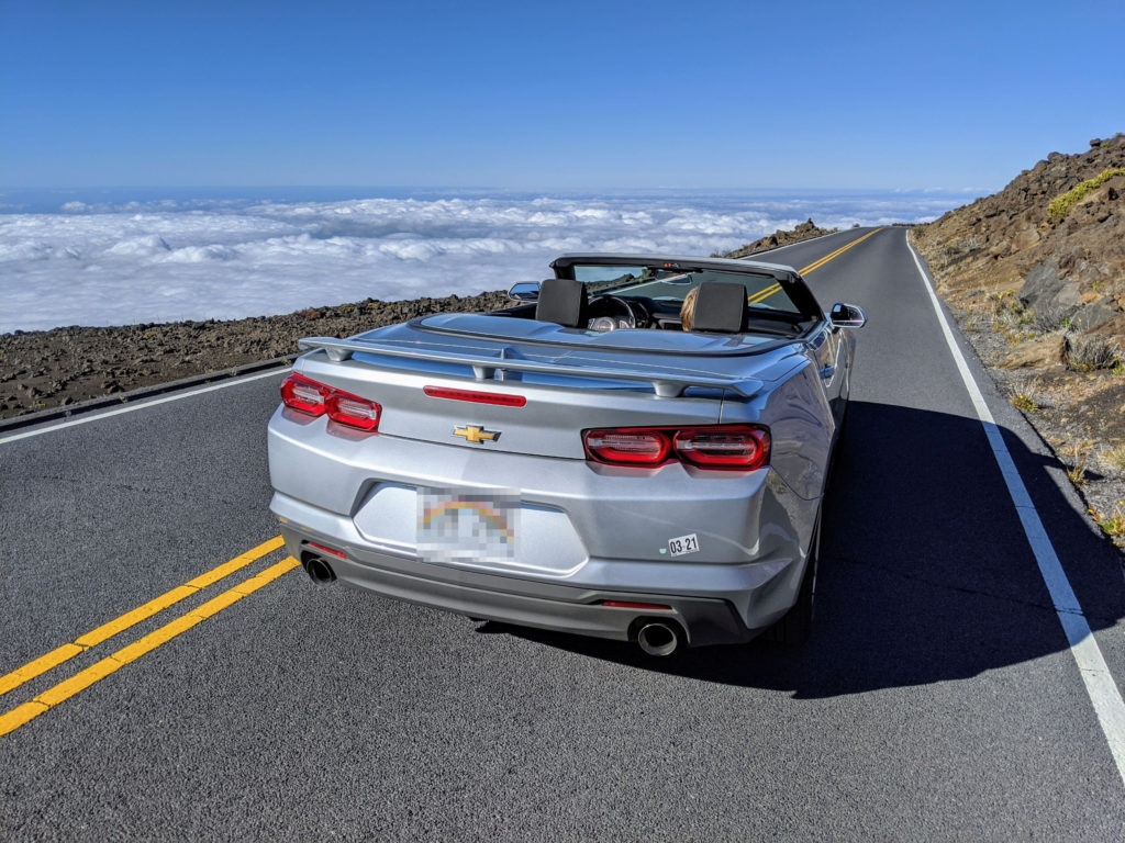 Convertible in Maui