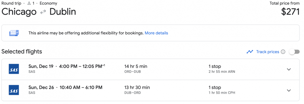Cheap Flights to Europe: Chicago to Dublin